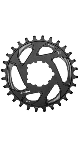 SRAM X-Sync Klinge Direct Mount 11-speed 0° Offset sort